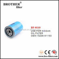 High quality OEM auto oil filter 15208W1193 for Nissan car fleetguard oil filter lf9009
