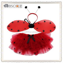 fashion lady beetle wings fairy wing for kids party decoration set with tutu