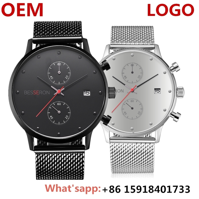 multifunction luxury watch details quartz stainless steel case back watch brands your own wristwatch