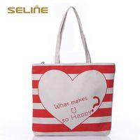 Fashion promotional blank canvas cotton tote bag
