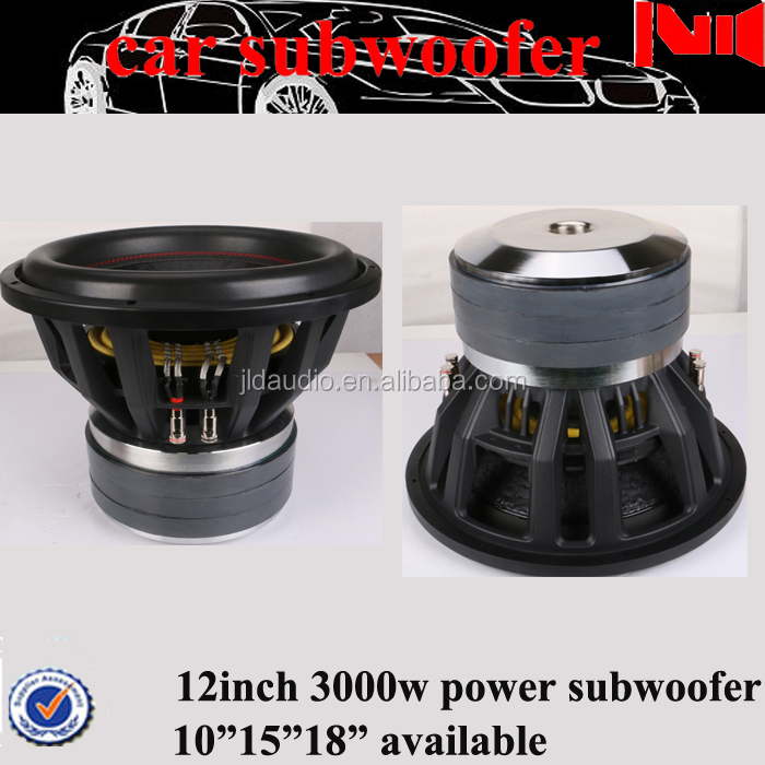 high performance 12inch car subwoofer speaker with 3*120 Oz neo magnet car bass <32inch spl subwoofer