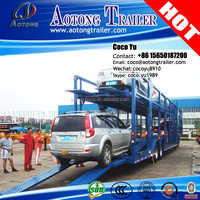 Heavy duty dolly type 3 axles car towing trailer for car transporting