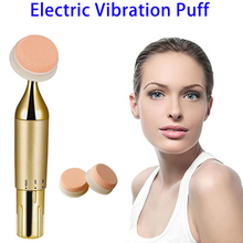 Alibaba Express Vibration Foundation Powder Puff Applicator, Electrical Massage Powder Puff