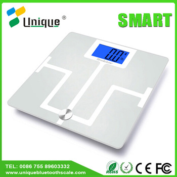 Medical weight water proof weighing hardness glass body fat scale for bodybuilding