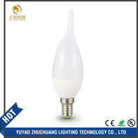 C37 LED Candle Bulb, Thermally conductive plastic and Aluminium housing 5W IC type well