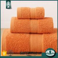 soft 100%cotton plain dyed brand name bath towel