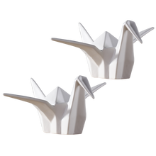 Best home decor gift white Thousand Paper Crane geometric animals ceramic for sale