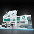 Detian Offer exhibition booth used trade show booths with display shelf