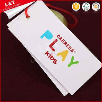 Fast Deliver Coated Paper Garment Swing Ticket
