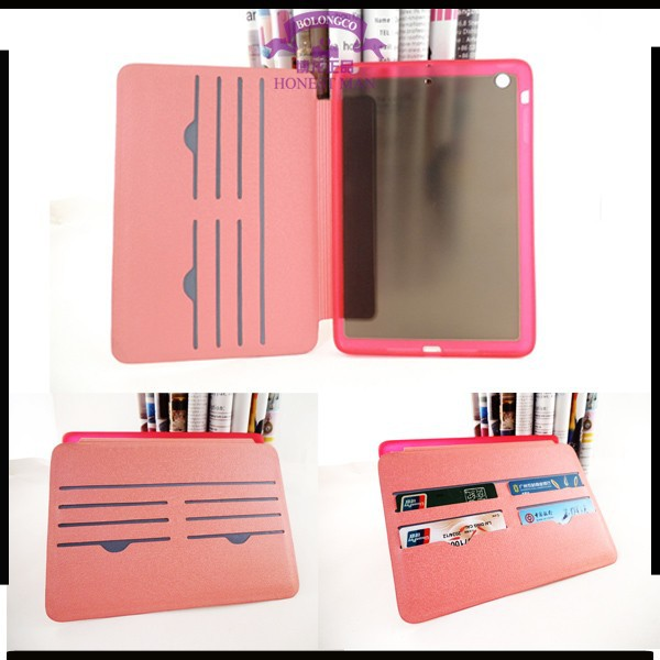 Hot Selling lovely floral pattern flip stand leather case for ipad 2 3 4 5 6