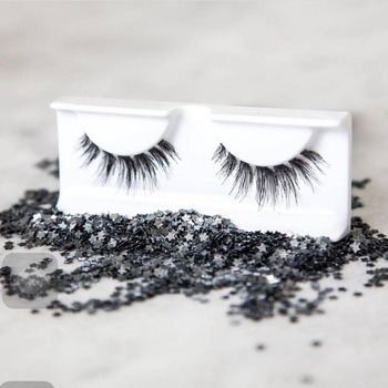 2017 new wispy sterilized 100% human hair false lashes with own brand package