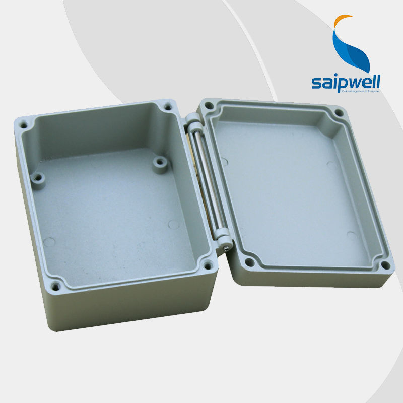 SAIP/SAIPWELL New Product 115*90*60mm Box With Lock Cast Aluminium Grey Cover Outdoor IP66 Waterproof Metal Box
