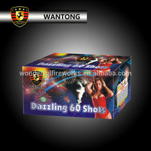 Wholesale 60 shots dazzling cake consumer fireworks for party