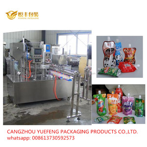 Mixed Juice and natural fruit drinking in doypack with cap standing pouch filling and capping factory packing machines