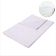 Fitted Knit Cotton Crib Sheet,Baby Bed Sheet Crosshatch Dot, Pink