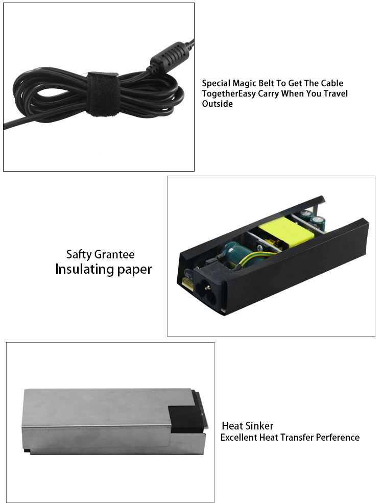 Laptop battery charger ac dc power adapter 19.5v 3.33a 65w for hp 4.5*3.0mm pin connector