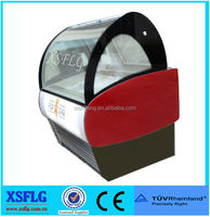 XSFLG portable ice cream display freezer with CE