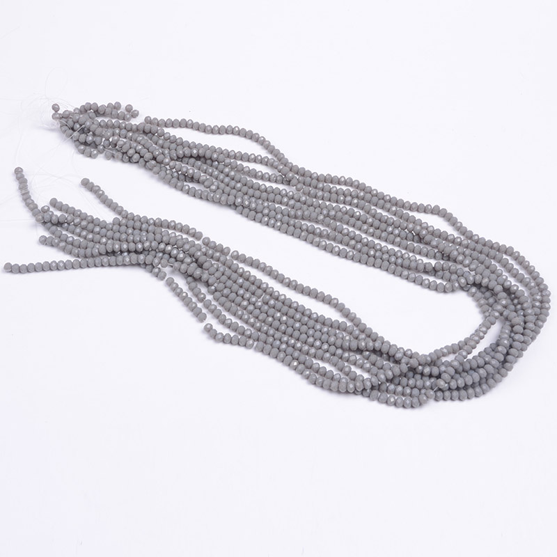YiWU Factory Wholesale Faceted Rondelle Beads Chinese Grey Crystal Beads Faceted Round Bead Wholesale