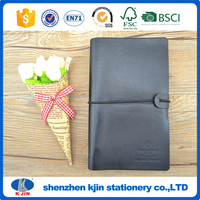 2016 personalized leather address book with binder and notepad is pu cover