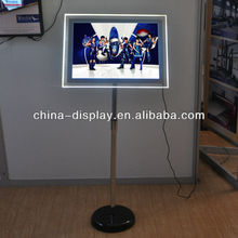 Factory Price A3, A4 Free Standing Crystal Display Stand Acrylic Standing Led Panel
