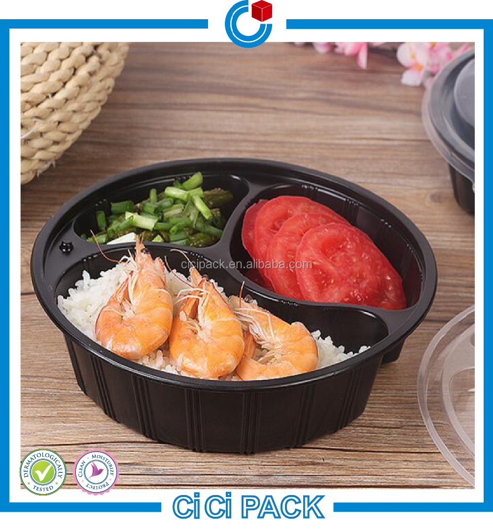 wholesale Meal prep food container disposable plastic tiffin lunch container manufacture