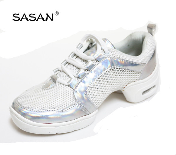New Arrival Split Sole Line Dance Shoes White Color Dance Shoes 8207