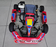 steel or plastic bumper racing cheap gas racing go kart for sale 90cc