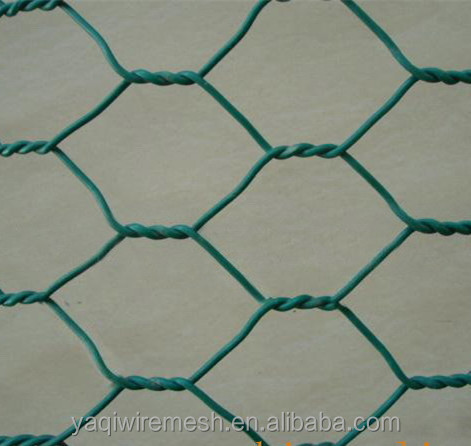 Hot Dip Galvanized Hexagonal Wire Mesh/ PVC Coated Surface Treatment
