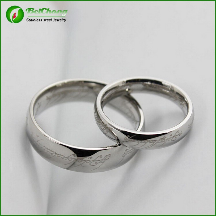 fashion wedding ring wholesale plain silver ring for