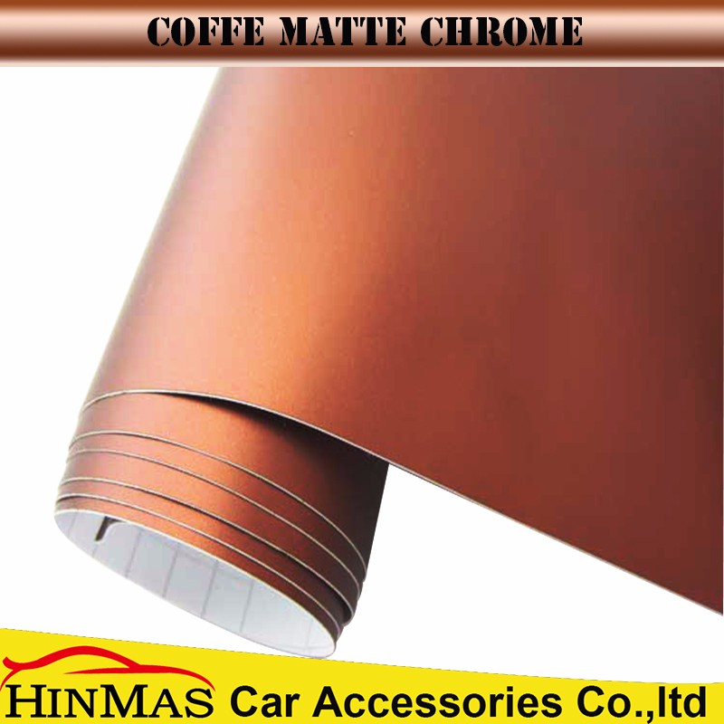 1.52*30/20M vehicle wrapping wholesale price bronze chrome vinyl wrap