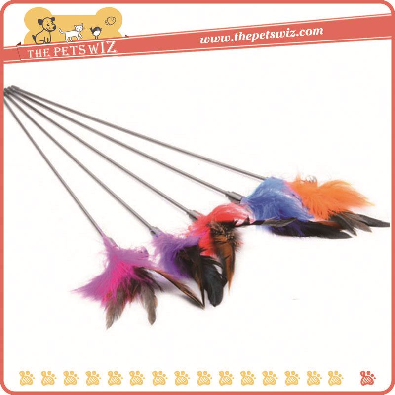 Feather wand cat toys ,p0wjv retractable cat wand for sale