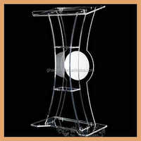 GH-S004 Floor Standing Clear acrylic lectern pulpits of commercial Furniture, clear acrylic dome