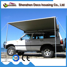 Manual electric optional retractable car side awning