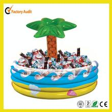 Palm tree decorated PVC Inflatable ice bucket