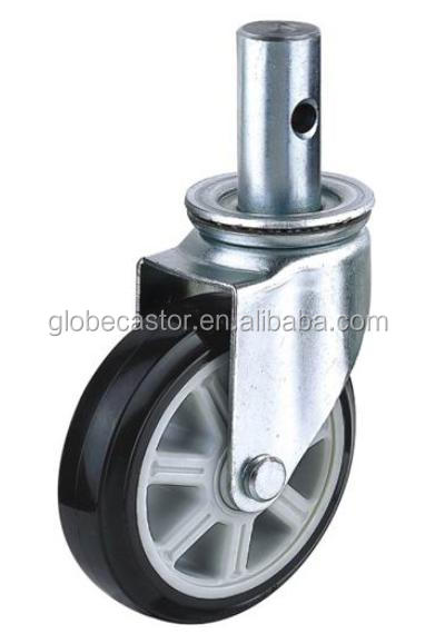 Industrial hand truck stem black PU caster wheels