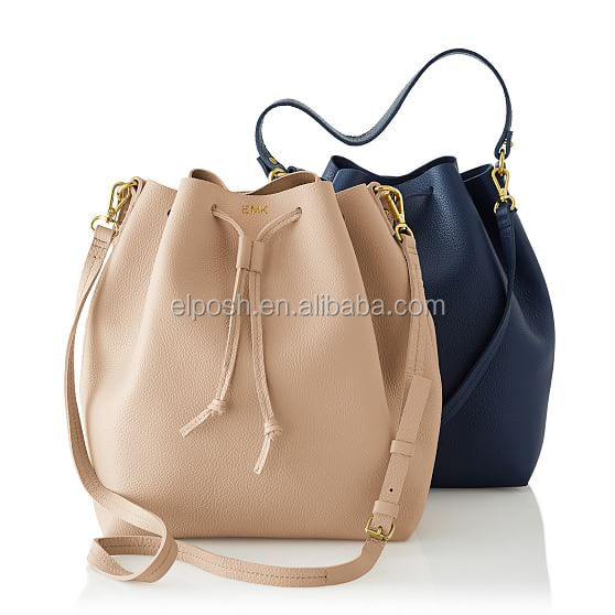 Personalized Daily Leather Bucket Bag