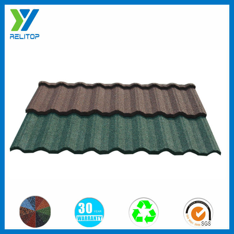 Stone Granule Coated Steel Roof Tile/Glazed Decorative Roof Tile