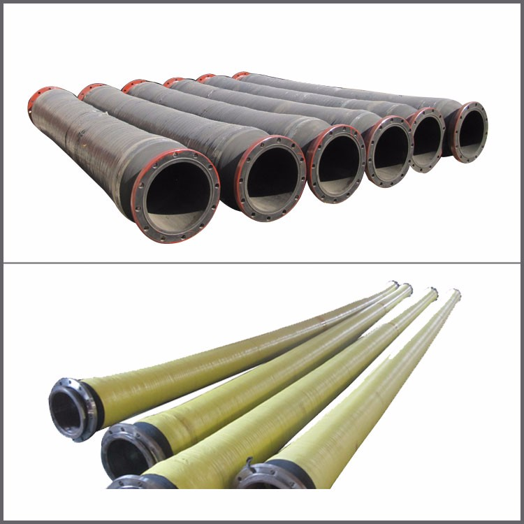 rubber mud suction dredging hoses with big diameter
