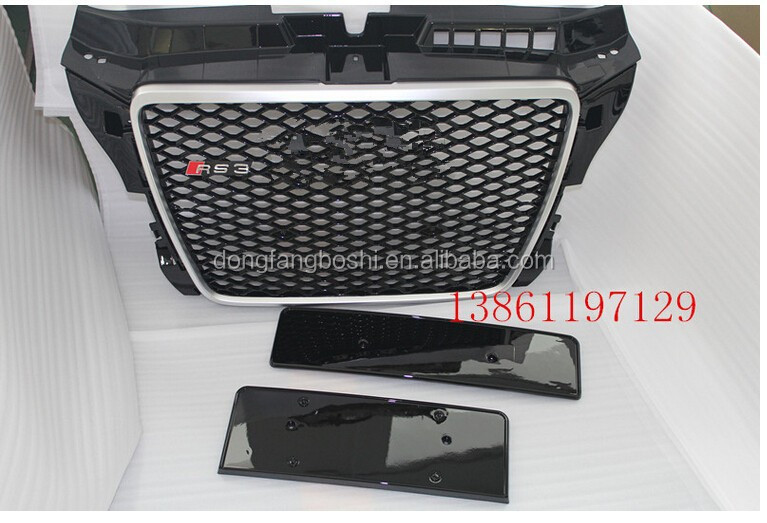 hot sale A3 style car front grille for audi s3/rs3