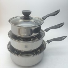 LFGB Certified Mini Single Handle Gas Stainless Steel milk Boiling Pot
