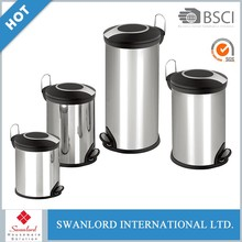 Wholesale simple design household PP pedal bin trash can