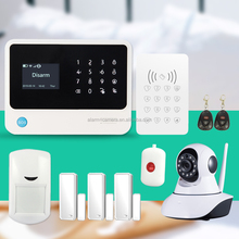Newest wireless WIFI GSM alarm system G90B white black color with CE certification and Russian/Spanish/French languages