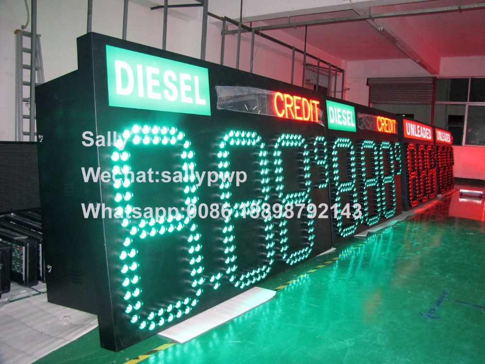36/40/42/48/60inch petrol/oil/fuel service station gas price led display/sign