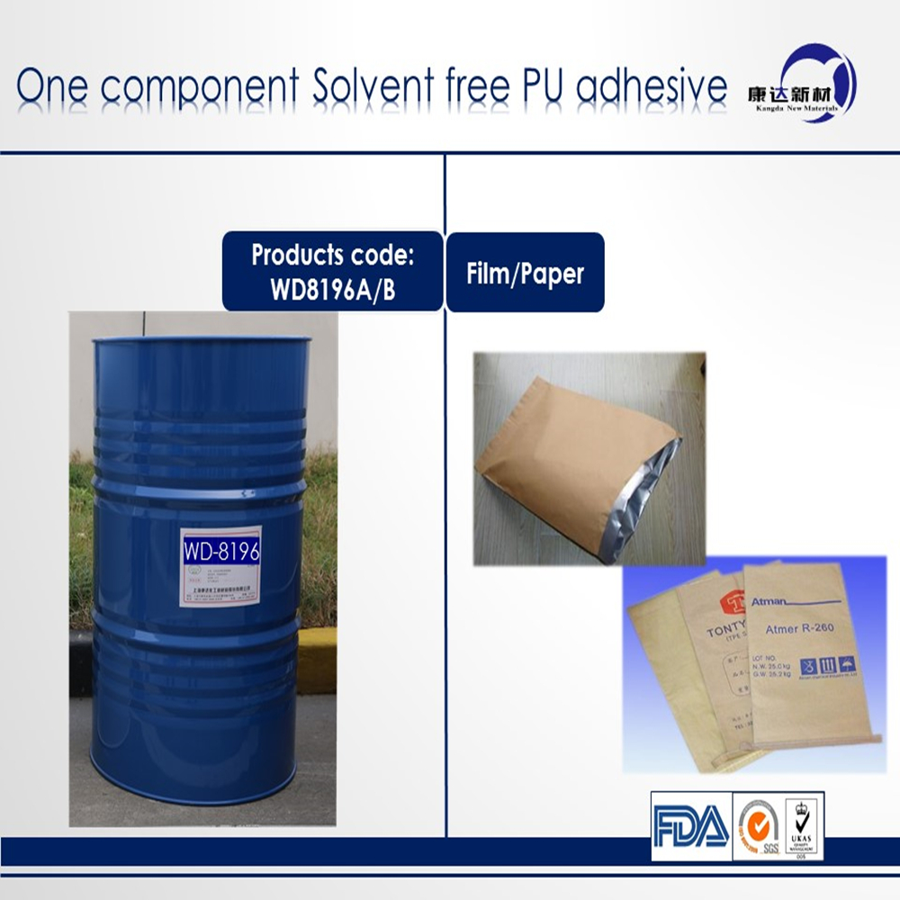 one component pu adhesive for flexible packaging/polyurethane adhesive