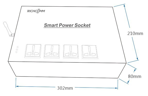 Smart Power Socket-Power Distribution Unit PDU Banking Solution ATM Monitoring Solution