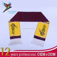 Doha sport football club winter Guangzhou customized 100 polyester scarf