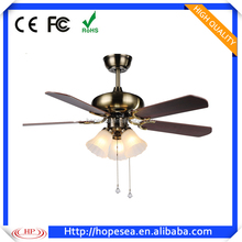 2017 new design wooden ceiling fans with led lights