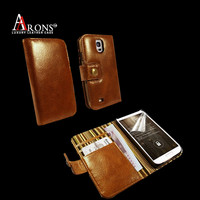 Wallet style leather phone case cover for samsung galaxy s5 case