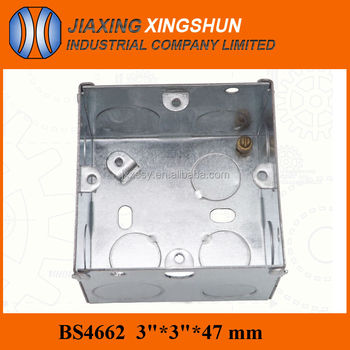 BS galvanized steel electrical junction box
