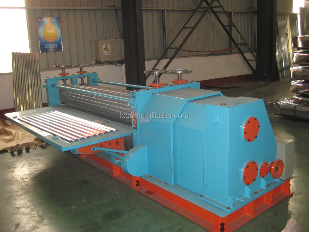 corrugated metal machine